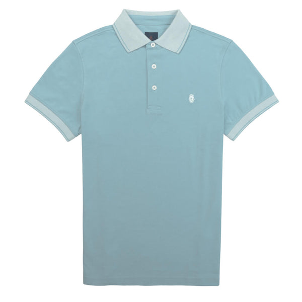 Light Blue Cotton Polo - Gagliardi