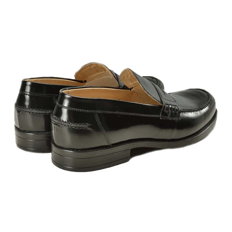 Black Leather Loafers - Gagliardi