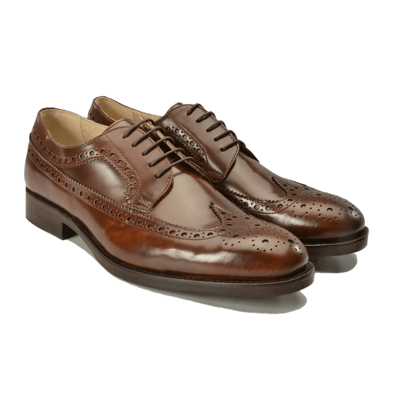 Brown Leather Brogues - Gagliardi