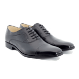 Black Leather Lace Up Shoes - Gagliardi