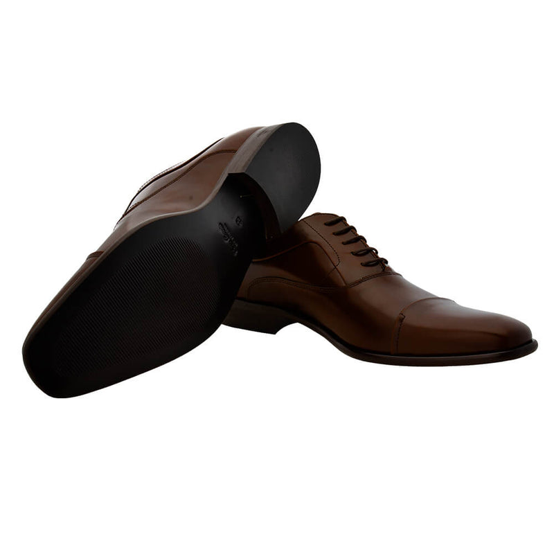 Brown Leather Lace Up Shoes - Gagliardi