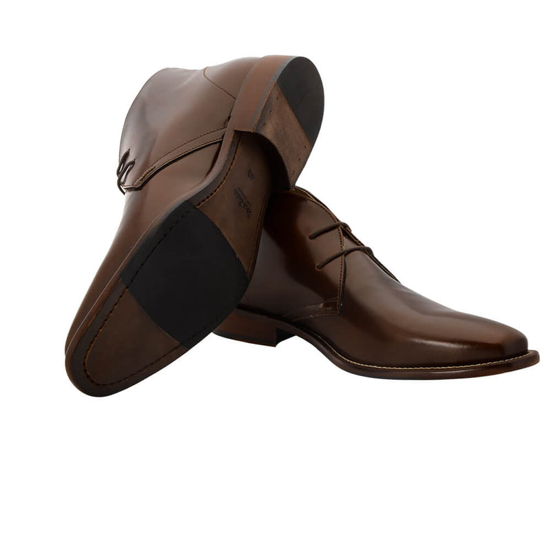Brown Leather Dessert Boots - Gagliardi