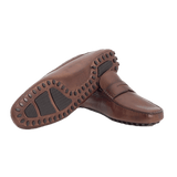 Brown Leather Moccasins - Gagliardi