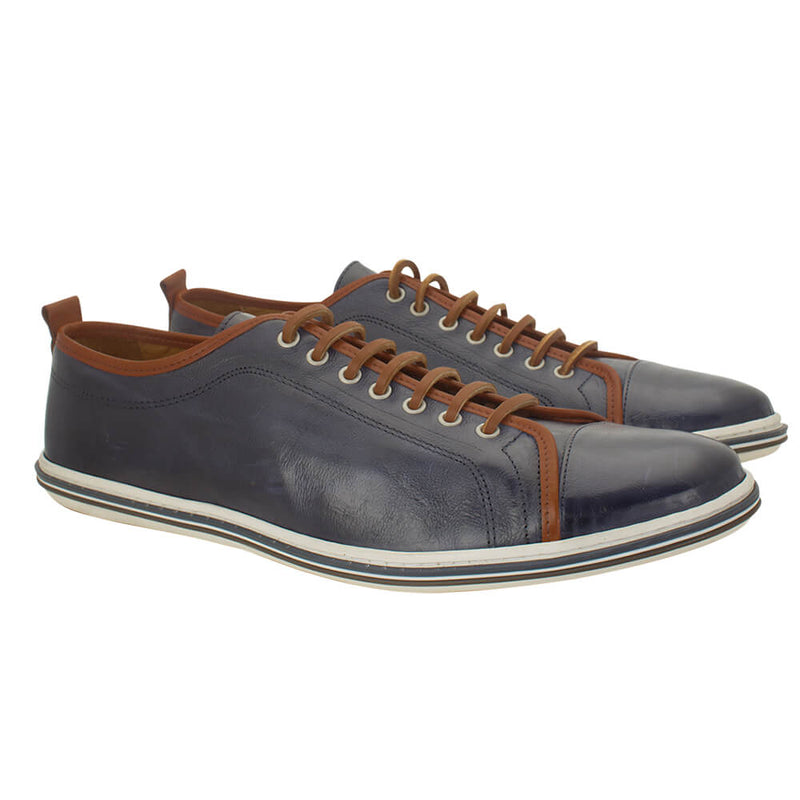 Navy formal calf leather shoes - Gagliardi
