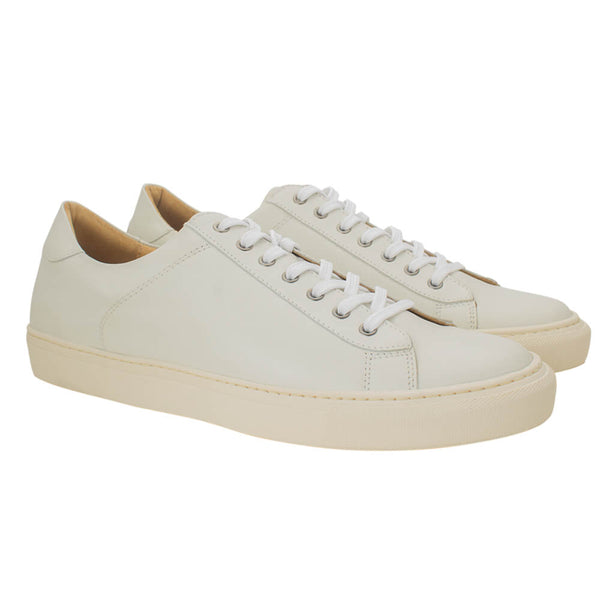Off white calf leather sport shoes - Gagliardi