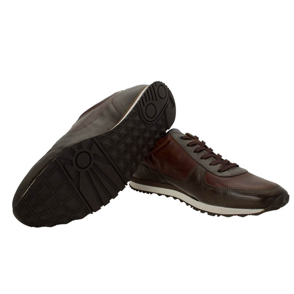 Tan multi colour sport shoes - Gagliardi