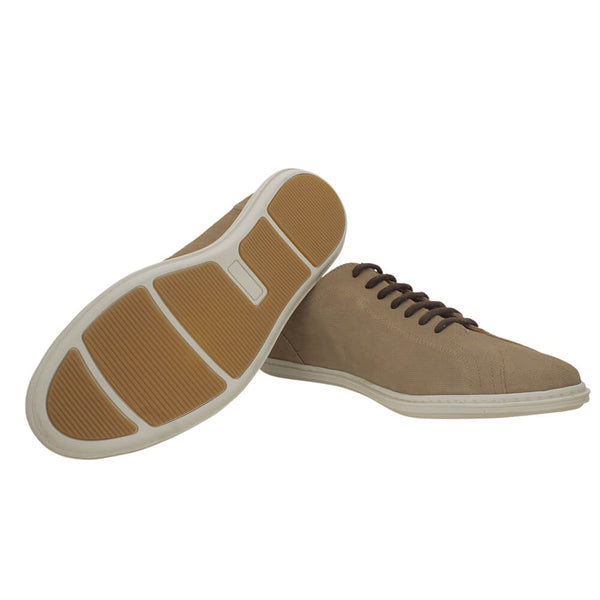Beige suede casual shoes