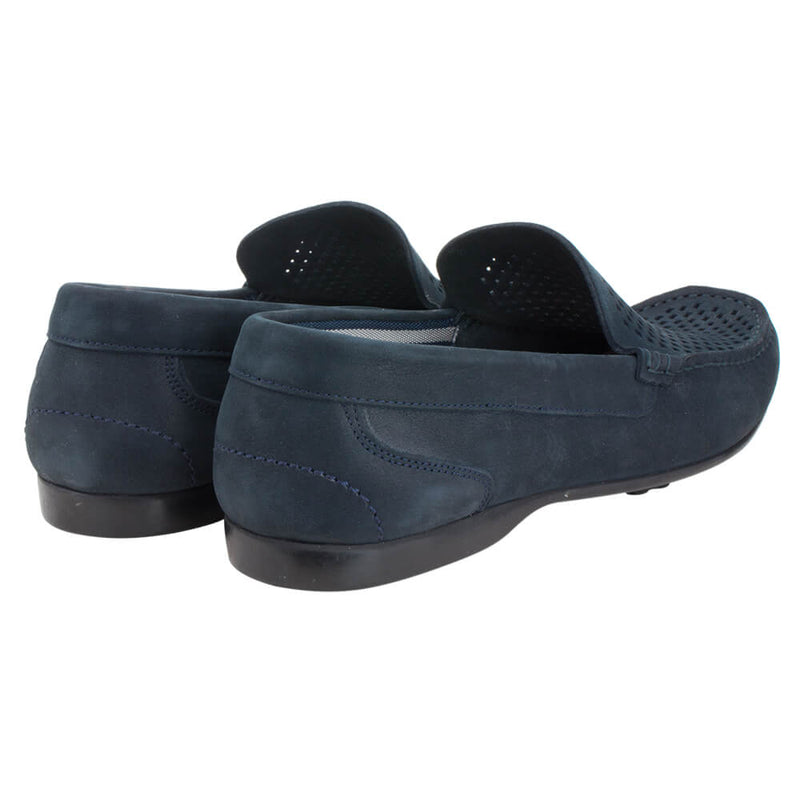 Navy Suede Loafers - Gagliardi