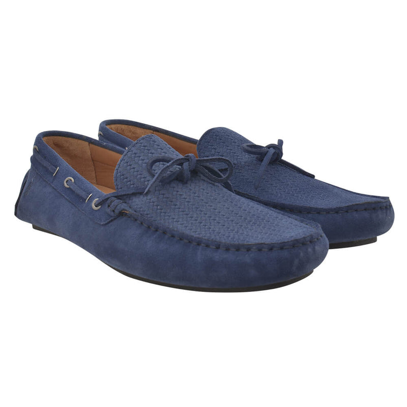 Light Blue Suede Loafers - Gagliardi