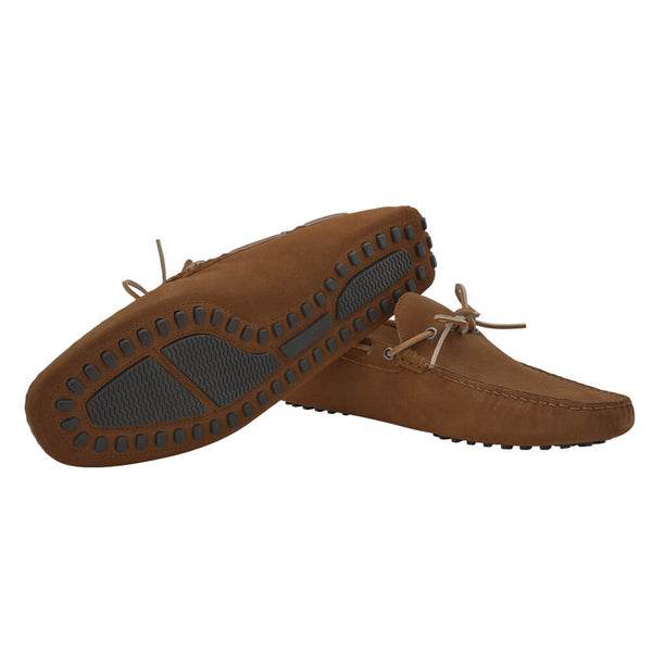 Brown Suede Loafers - Gagliardi