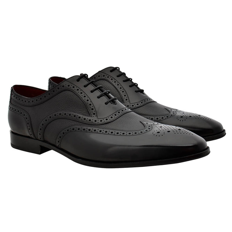Black Patent Leather Brogues - Gagliardi