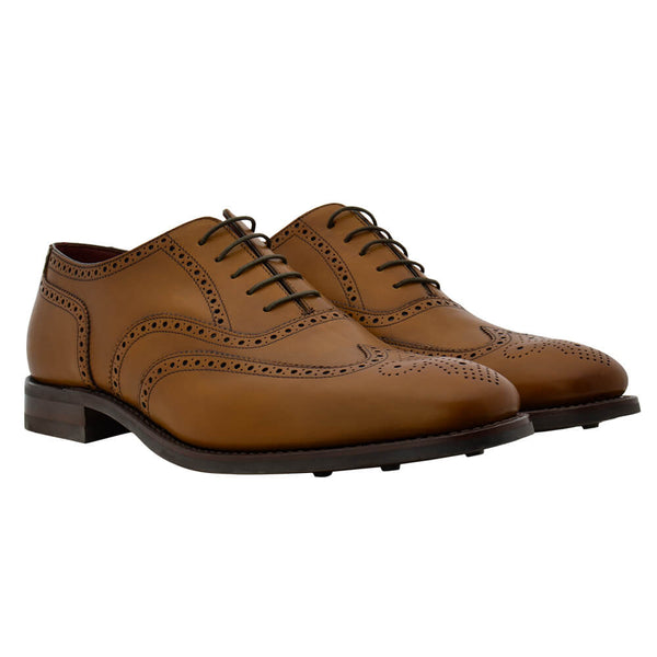 Tan Leather Brogues - Gagliardi