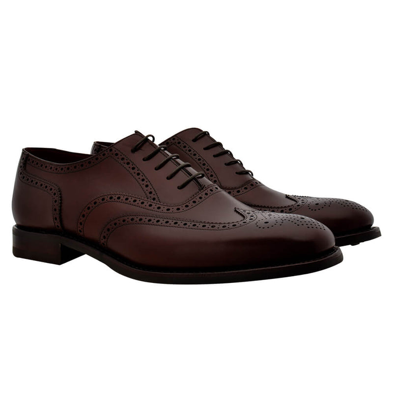 Dark Brown Leather Brogues - Gagliardi