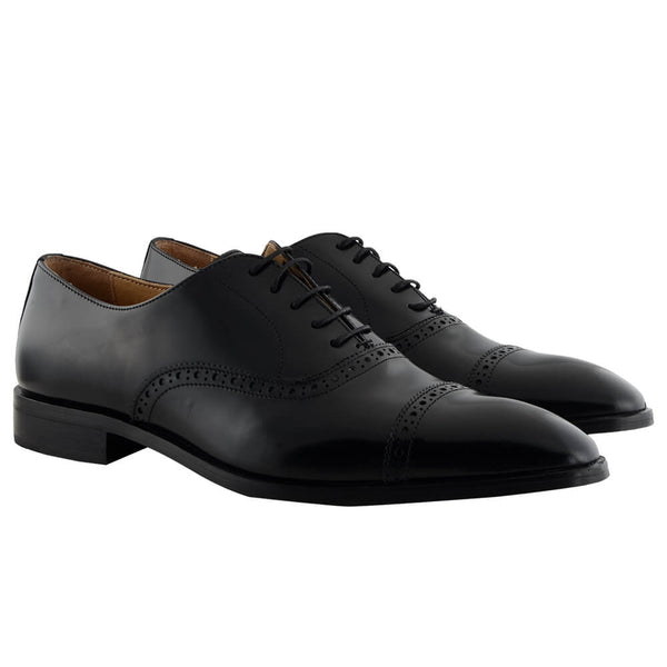 Black Leather Oxford Brogues