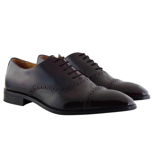Burgundy Leather Oxford Brogues