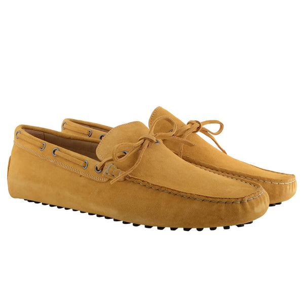Yellow Suede Moccasins