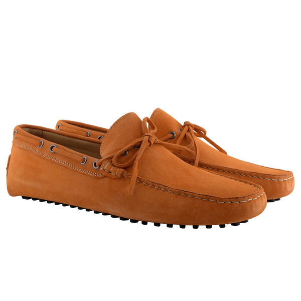 Orange Suede Moccasins