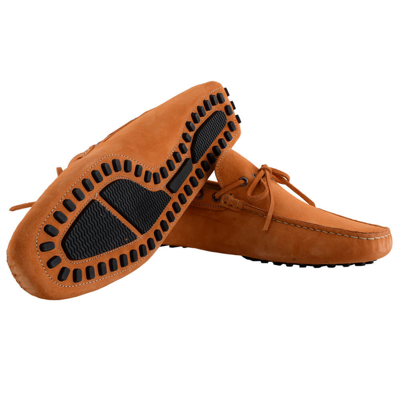 Orange Suede Moccasins - Gagliardi