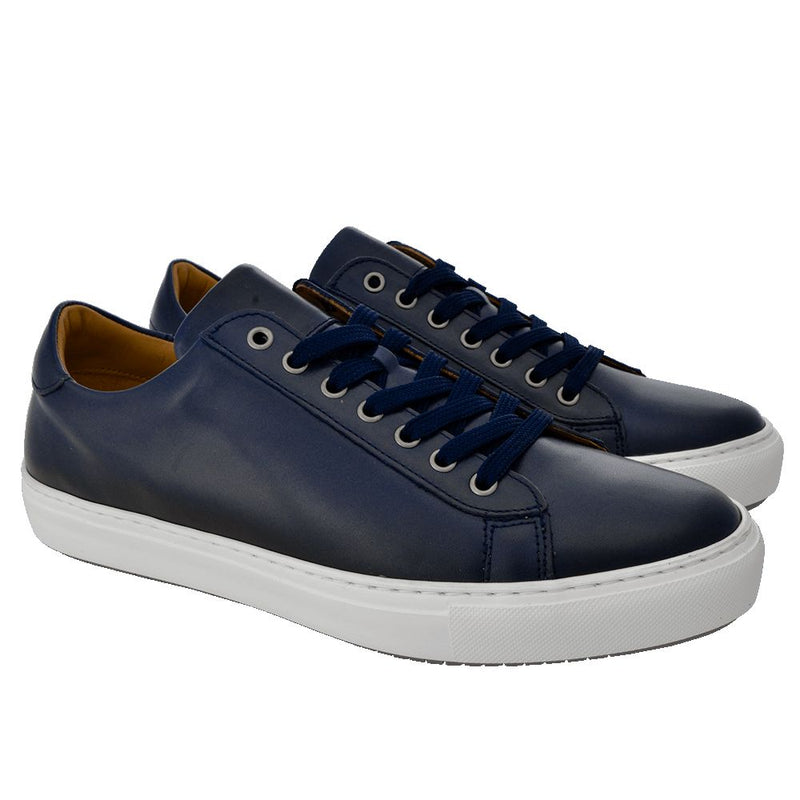 Navy leather sport shoes - Gagliardi