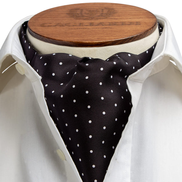 Black & White Polka Dot Cravat - Gagliardi