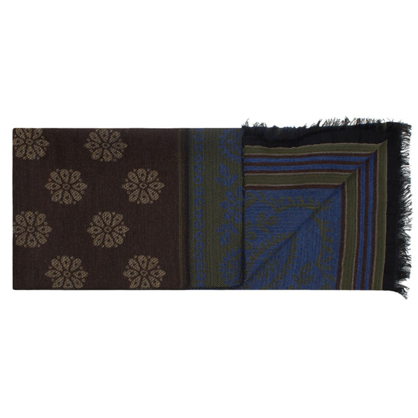 Green & Brown Paisley Scarf
