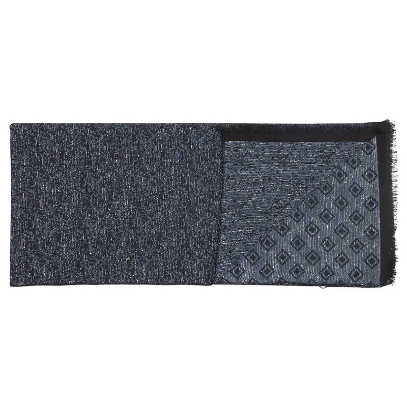 Blue Reversable Diamond And Speckled Scarf - Gagliardi