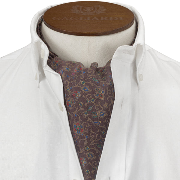 Brown Multi Flower Cravat