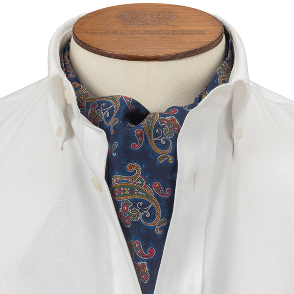 Navy Clustered Paisley Cravat
