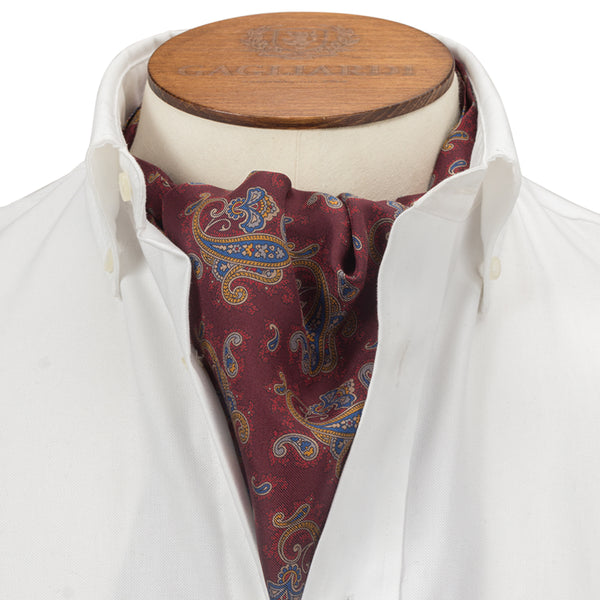Red Clustered Paisley Cravat
