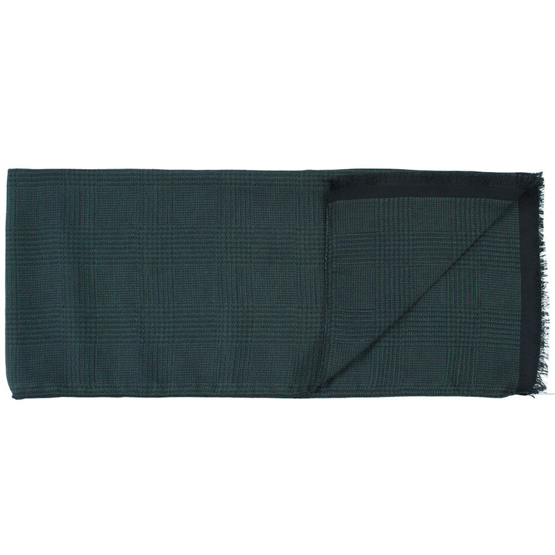 Grey And Black Plaid Scarf - Gagliardi