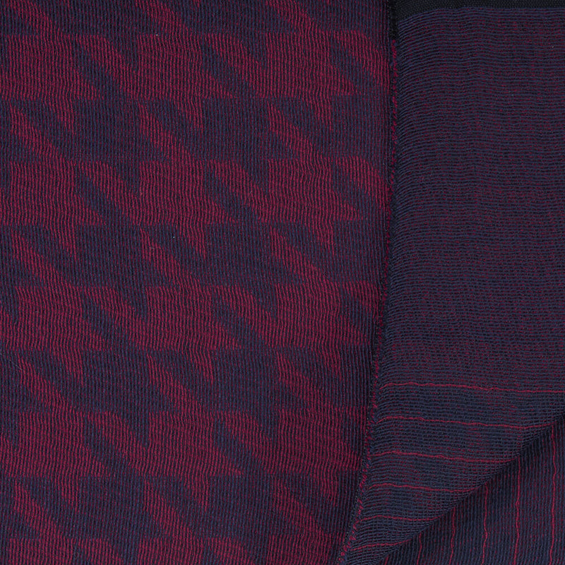 Navy With Red Houndstooth Reversible Scarf - Gagliardi