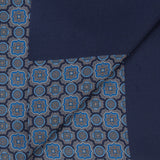 Navy With Blue Mosaic Print Scarf - Gagliardi