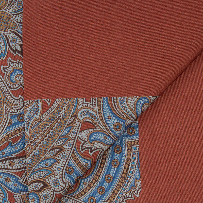 Orange With Large Paisley Print Scarf
