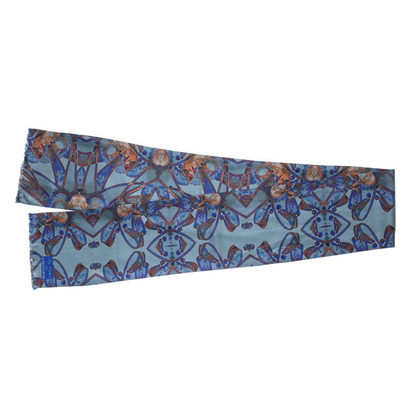 Saz Mifsud Blue Medium Carnival Scarf