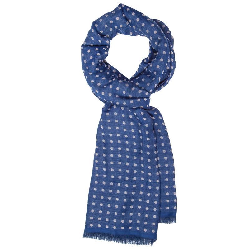 Navy With White Dots Scarf