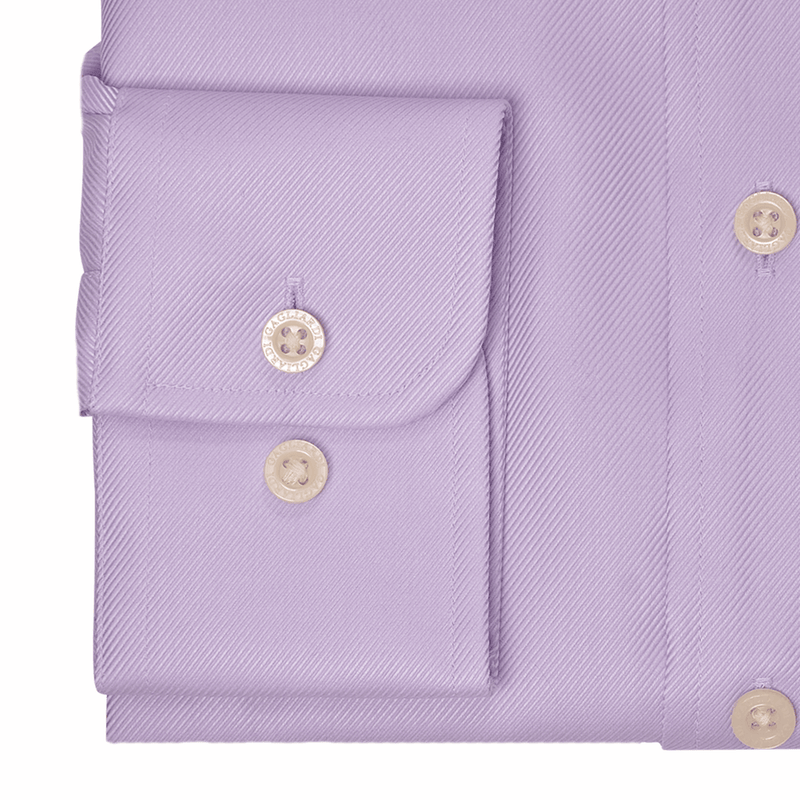 Lilac Twill Cutaway Collar Single Cuffed Slim-Fit Non-Iron Shirt - Gagliardi