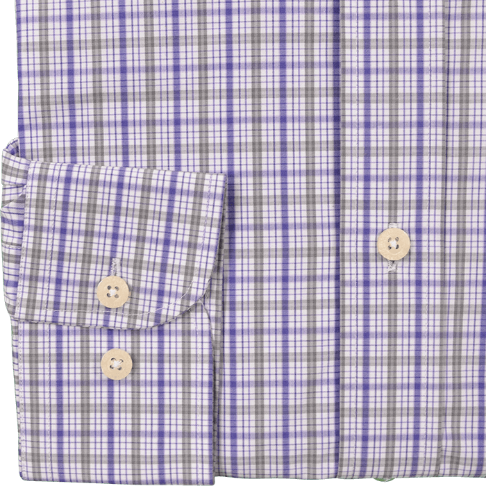 Purple & Grey Check Business Shirt