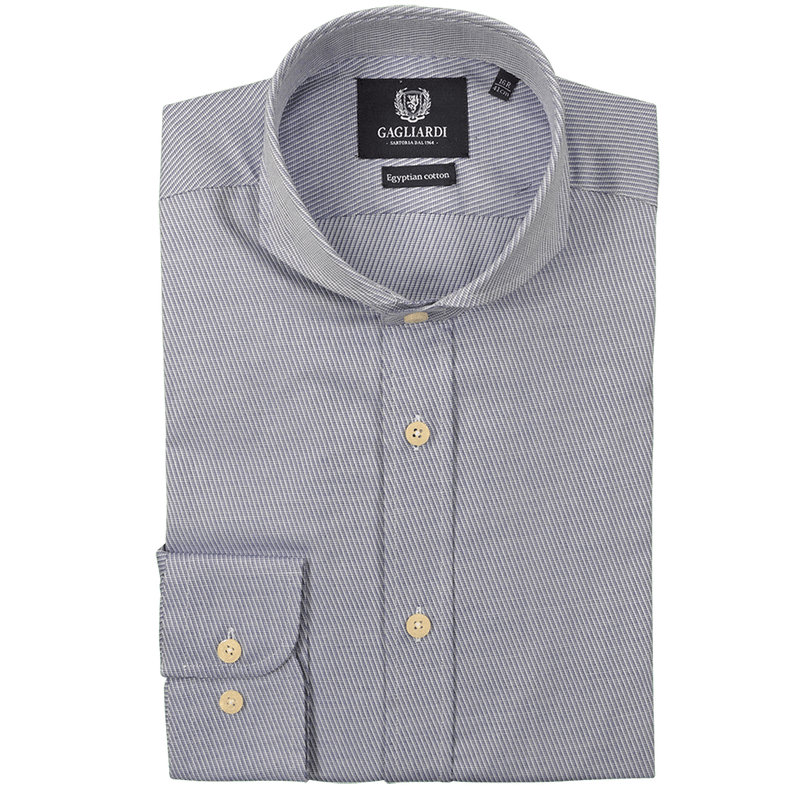 Blue Cavalry Twill Egyptian Cotton Shirt