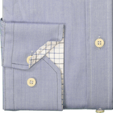 Royal Blue Herringbone Egyptian Cotton Shirt - Gagliardi