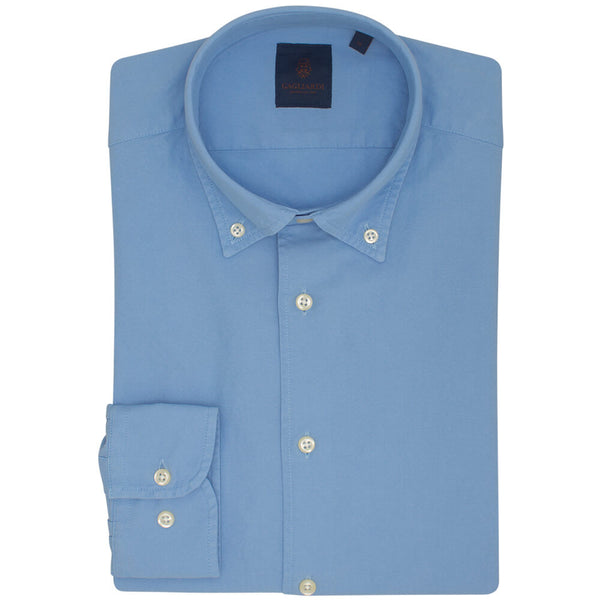 Blue Slim Fit Long Sleeve Buttondown Collar Oxford Shirt - Gagliardi