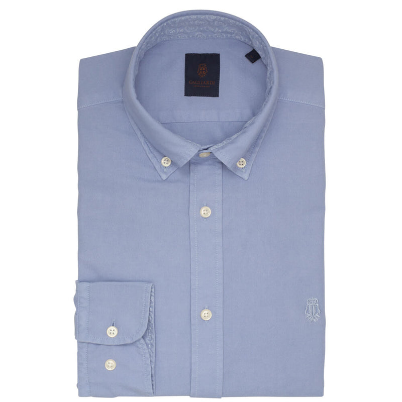 Winter Sky Oxford Garment Dye Slim Fit Shirt
