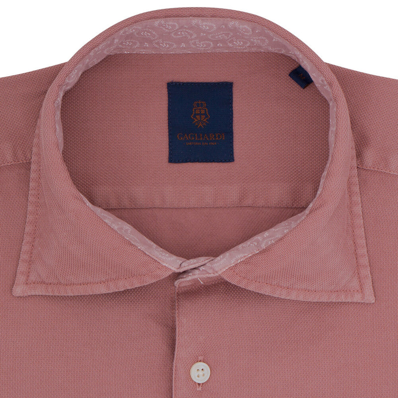 Slim Fit Red Cotton Shirt - Gagliardi