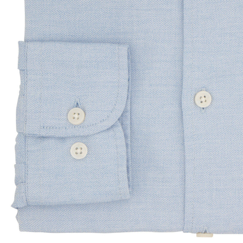 Slim Fit Blue Cotton Button Down Shirt - Gagliardi