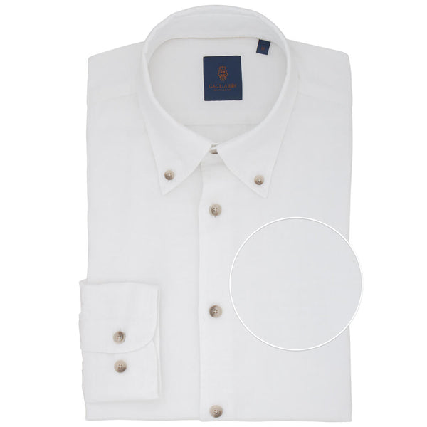 Slim Fit White Button Down Shirt - Gagliardi