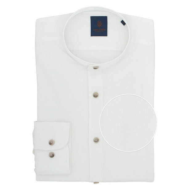 Slim Fit White Linen Shirt - Gagliardi