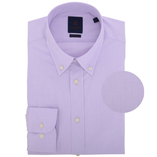 Lilac End on End Button Down Collar Shirt