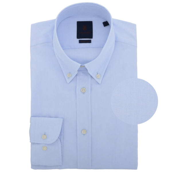 Sky End on End Button Down Collar Shirt