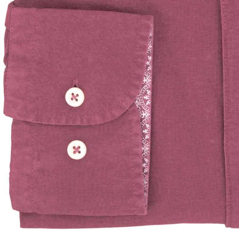 Raspberry Cotton Button Down Shirt - Gagliardi