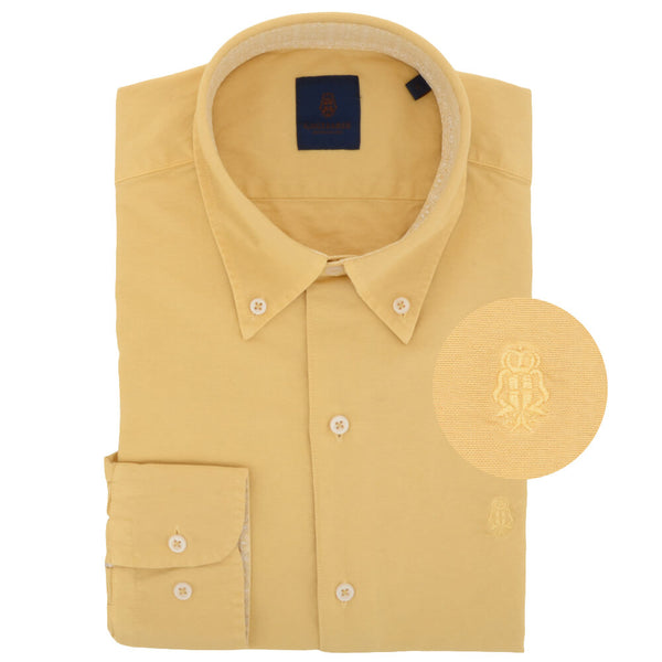 Yellow Cotton Button Down Shirt - Gagliardi