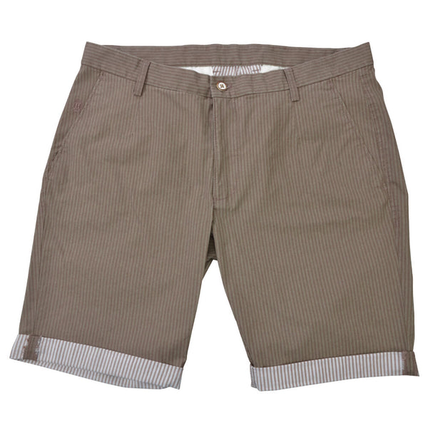 Double Face Striped Taupe Shorts